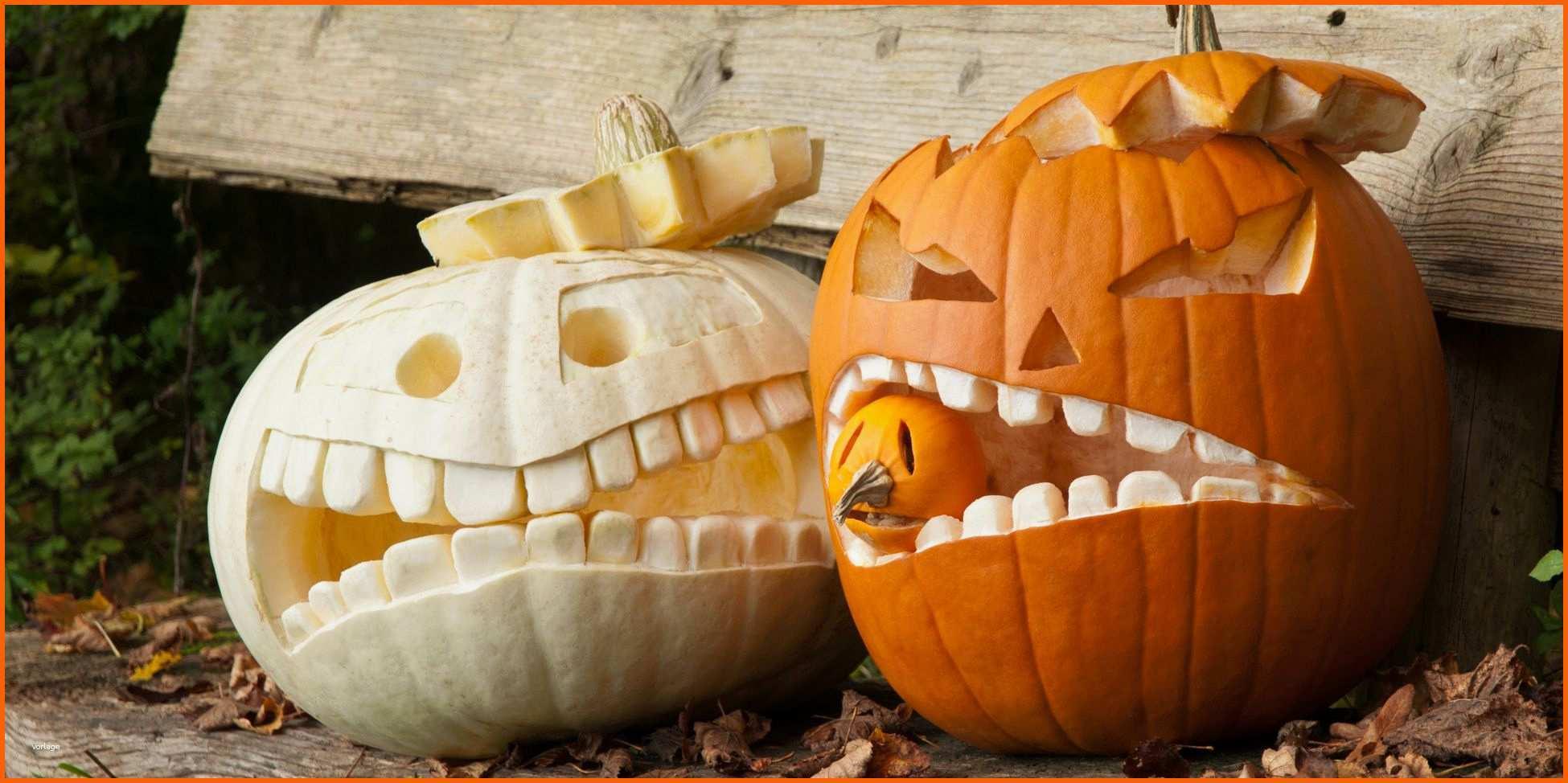 kreativ kürbis schnitzen für halloween halloweenkürbis