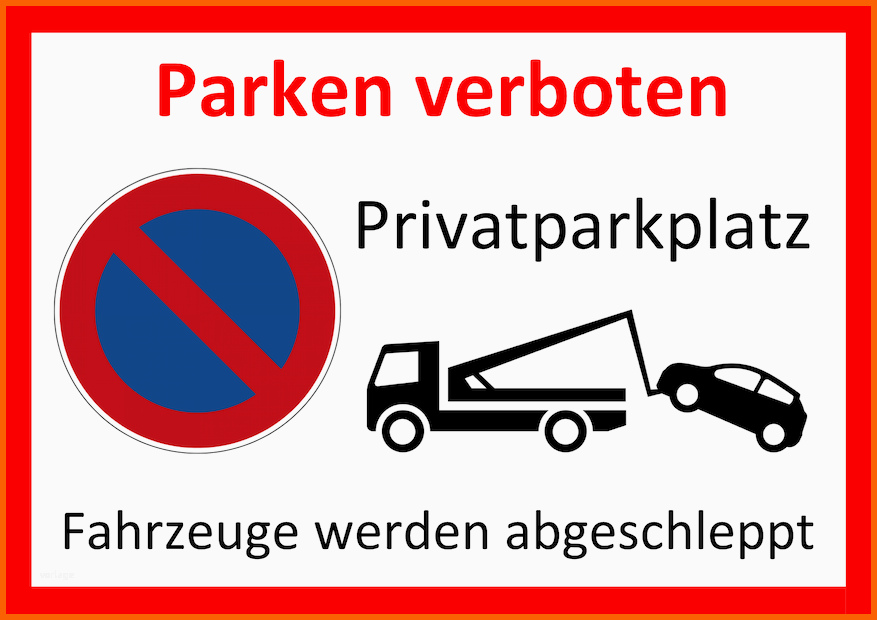 Privatparkplatz Strafzettel