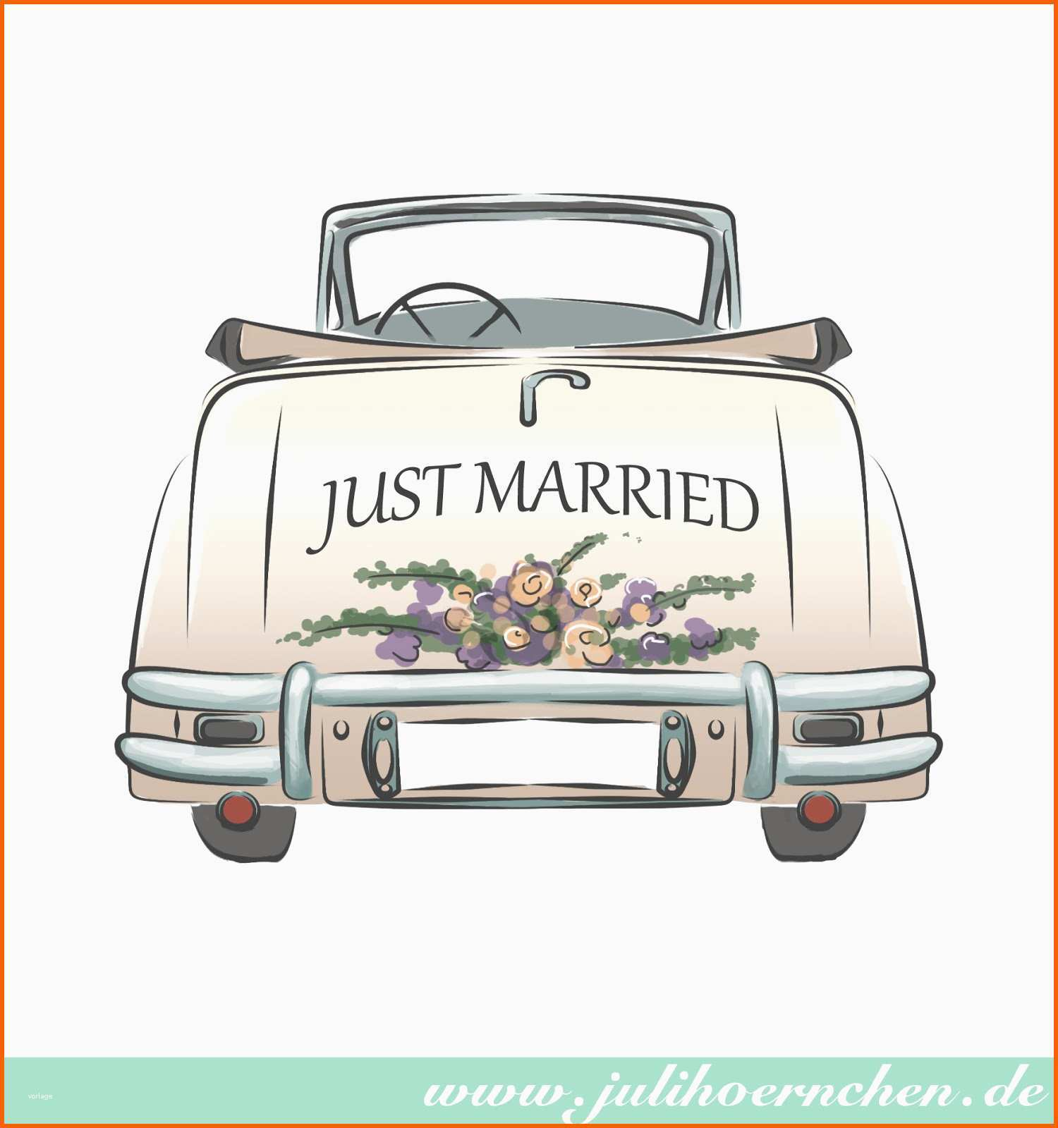 20 beeindruckend just married auto vorlage  kostenlos